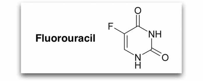 fluorouracil fachinformation strukturformel